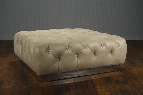 Leather Tufted Ottoman Coffee Table Tufted Leather Coffee Table Ottoman Mecox Gardens