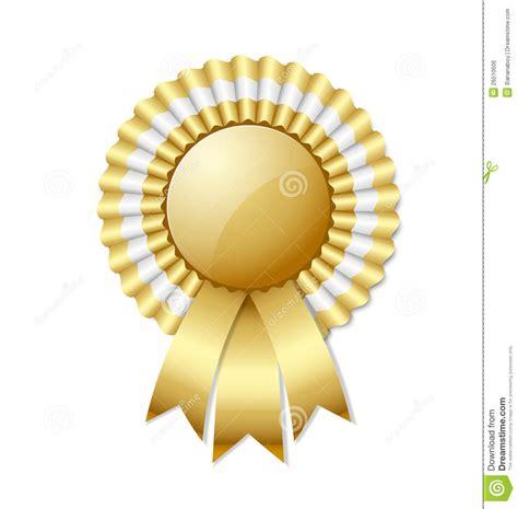 1st prize ribbon template golden rosette stock vector image of giving
