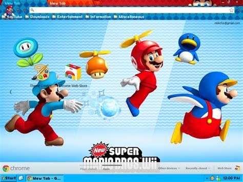 google slides themes mario new super mario bros google chrome theme by n64chick on