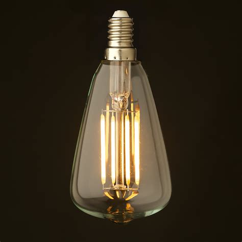 small edison light bulbs 3 watt small edison teardrop lantern filament led e14