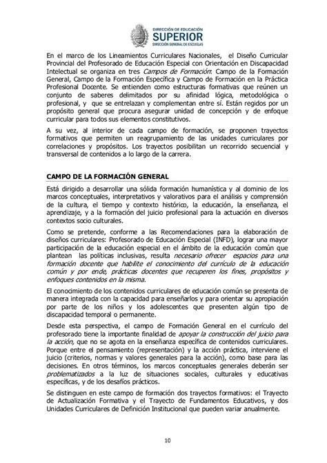Diseño Curricular Provincial Definicion Dise 241 O Especial Versi 243 N Final 1