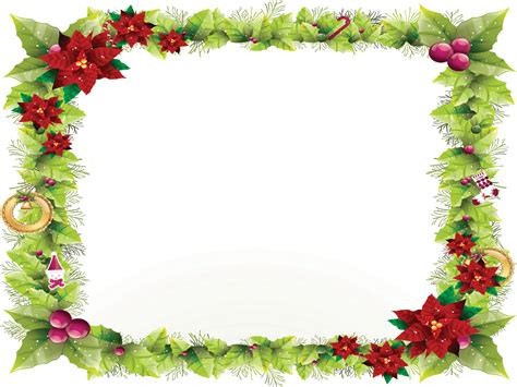 Christmas Decorations To Make At Home For Free by Nature Red Flower Frame Ppt Backgrounds Border Amp Frames