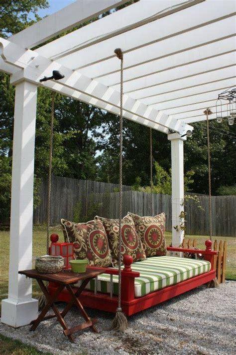 pergola bed swing best 25 garden swings ideas on pinterest outdoor swings