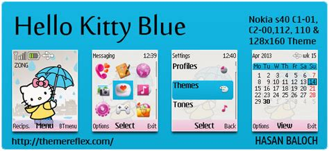 hello kitty themes asha 303 hello kitty themes themereflex