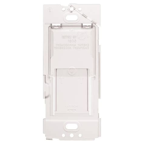 lutron caseta ceiling fan shop lutron caseta wireless white wallplate bracket at