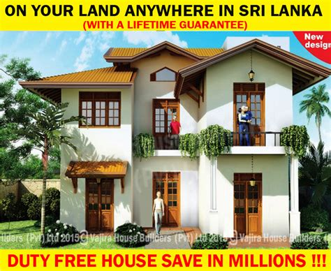 Nts5 Vajira House Builders Private Limited Best Architectural House Plans Sri Lanka Small Land