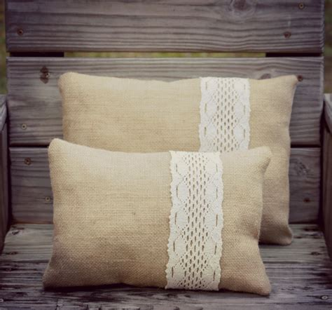 Rustic Pillows For by Burlap Pillow Set Rustic Pillows Home Decor By 1295mapleavenue