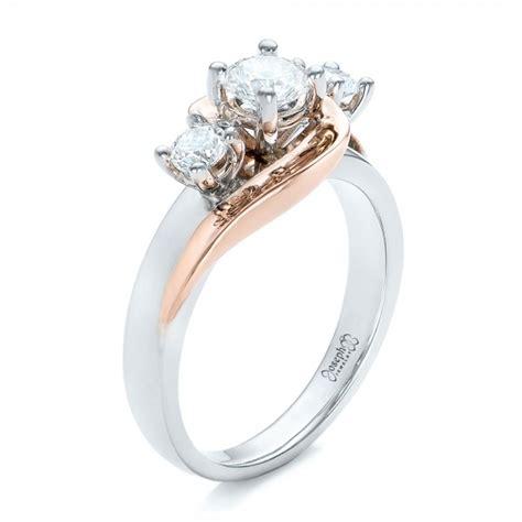 two tone engagement rings custom jewelry engagement rings bellevue seattle joseph