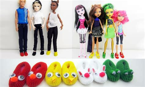 manualidades para muecas como aser sapatos how to make doll monster high barbie slippers really