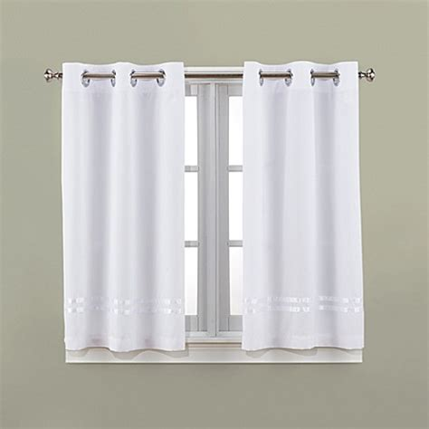 Bathroom Shower Curtains And Window Curtains Hookless 174 Escape 45 Inch Bath Window Curtain Panels Bedbathandbeyond Ca