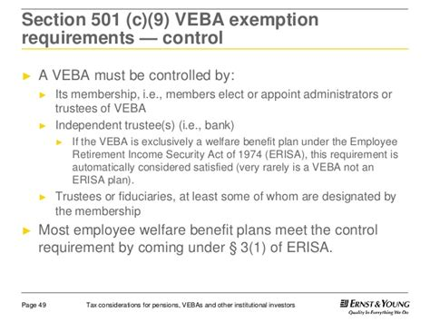 section 3 of erisa the tax impact on pension plans vebas and more