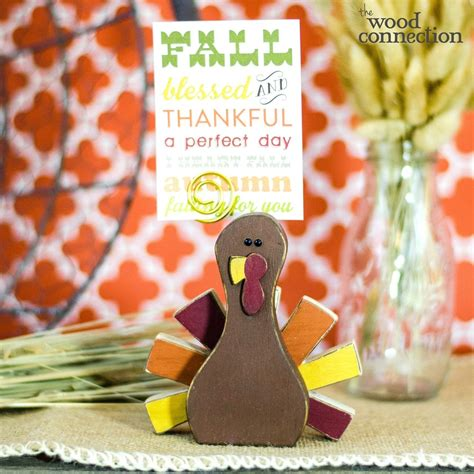 turkey place card holder fall wood crafts place card