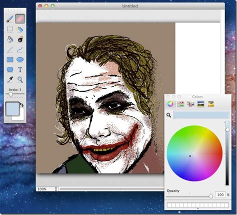 painting mac paintbrush basic image painter app reminiscent of ms