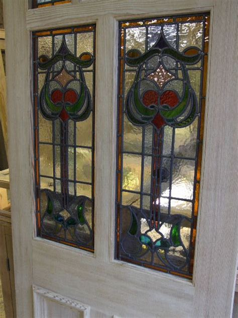The Stained Glass Door Company Nouveau Stained Glass Door Front Door Stained Glass Doors Company