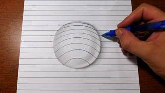 How To Make Paper Look 3d - how to draw 3d easy line paper trick