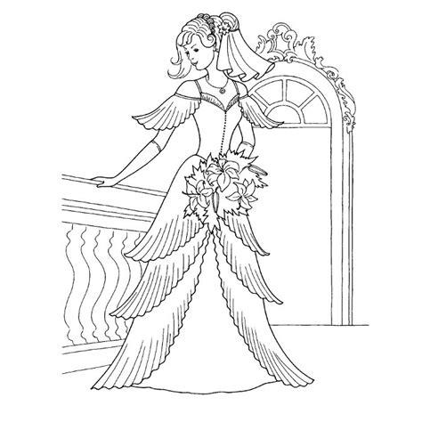 dress coloring pages games coloriage robe de mariage a imprimer gratuit