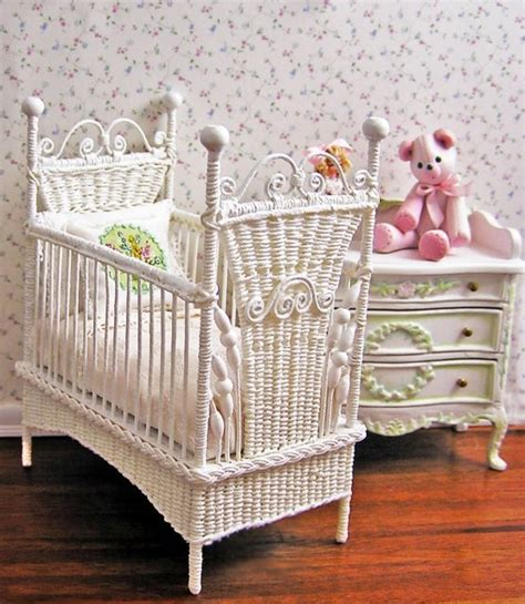 baby wicker cribs baby doll furniture woodworking projects plans