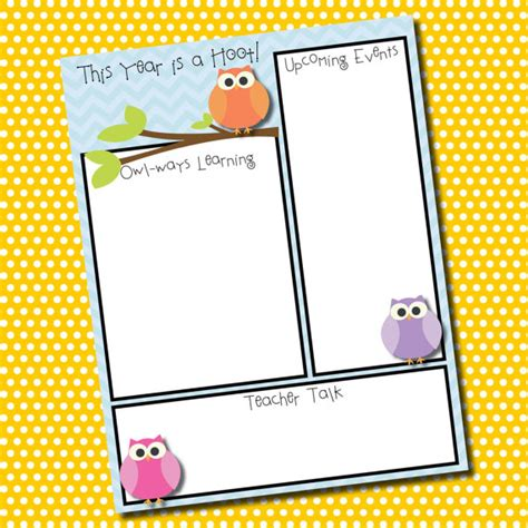 items similar to themed classroom newsletter template
