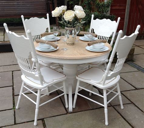 cheap shabby chic dining table and chairs top 50 shabby chic dining table and chairs home