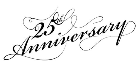 25 year wedding anniversary clipart best