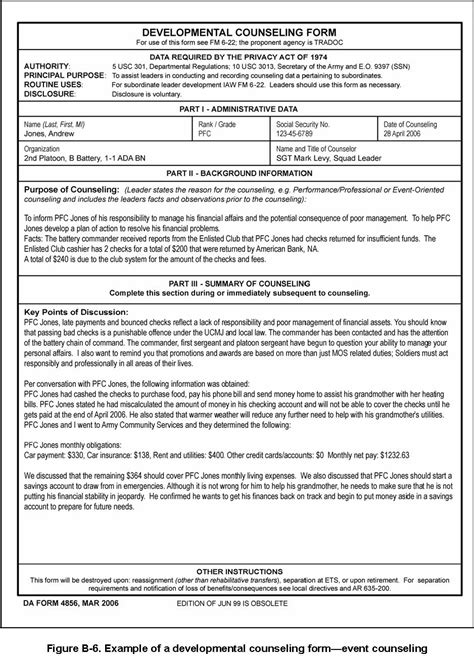 officer support form exle form army oer support form with pictures army oer