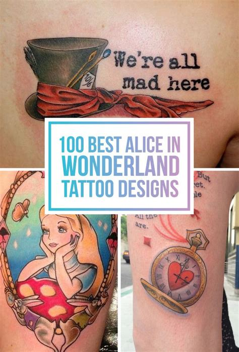 alice in wonderland tattoos small 100 best in tattoos