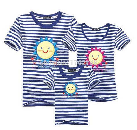 new pattern of t shirt family new fashion stripe sun pattern t shirts men women
