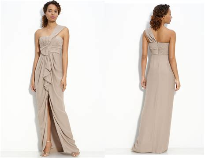 diy hairstyles for one shoulder dresses one shoulder beige wedding dress budget friendly onewed com