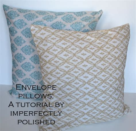 living room update simple envelope pillows