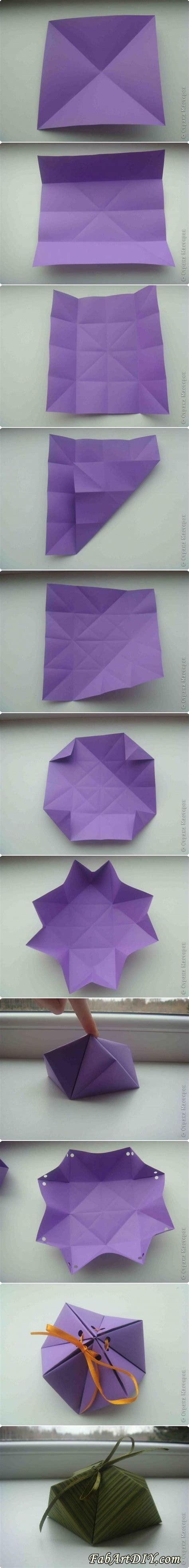 Diy Origami Box - diy paper origami gift box myfunnypalace