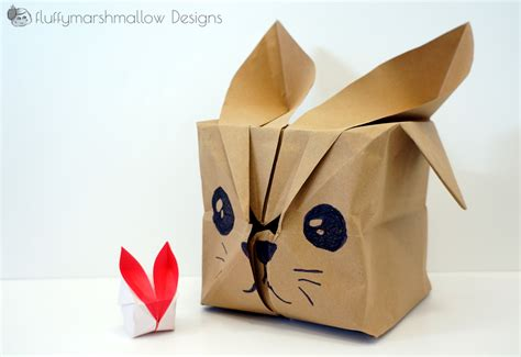 Origami Up Bunny - origami bunny major project design