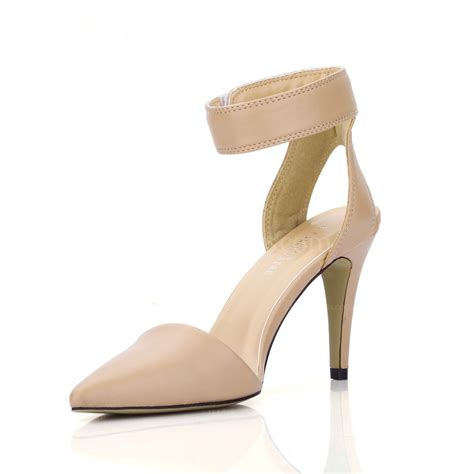 beige pu dance shoes dress womens narrow stiletto heel