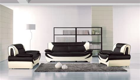 home design living luxury black leather room furniture