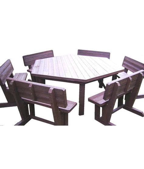 6 Seat Patio Set by 6 Seater Hex Patio Set Mctimber Structres