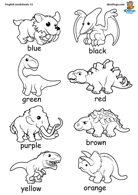 coloring pages for esl students download english worksheets for kids dino lingo blog