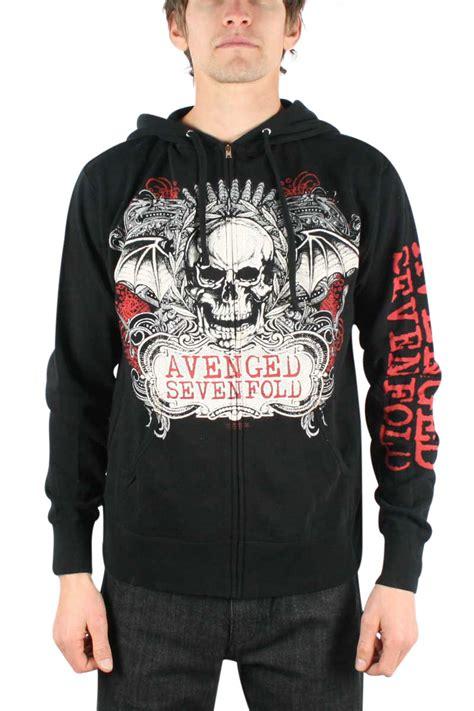 avenged sevenfold ornate zip up hoodie