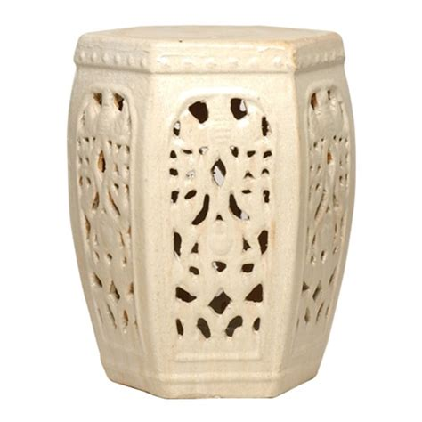 Ceramic Garden Stool by Hexagon Ceramic Garden Stool