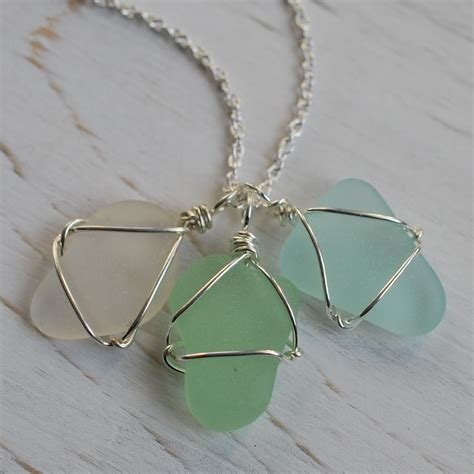 how to make glass jewelry best sea glass necklace photos 2017 blue maize