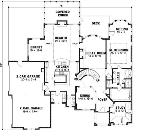 Mediterranean Style House Plans 6615 Square Foot Home Mediterranean House Plans Without Garage