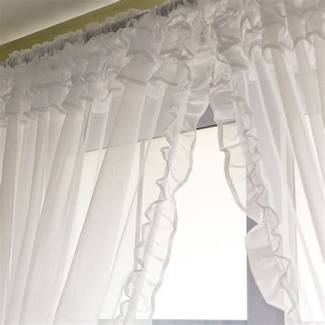 voile sheer curtains voile sheer curtains voile ruffle curtain voile sheer