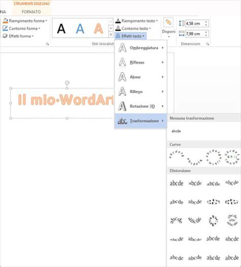 il disegno testo disporre il testo intorno a un cerchio o un altra forma