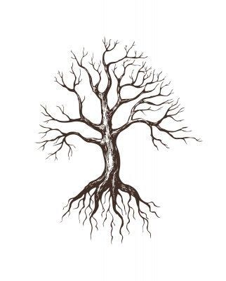 cartoon tree tattoo something like this on the outer calf of my left leg with