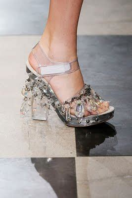 Prada Chandelier Shoes My Lon Random Musings On Perspex Shoes And Bags