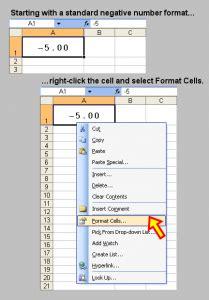 toms tutorials  excel formatting  negative number  square brackets microsoft excel