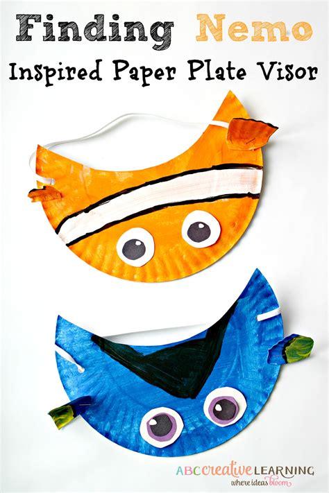 paper plate visor template apexwallpapers com finding nemo movie inspired paper plate visor hat for kids