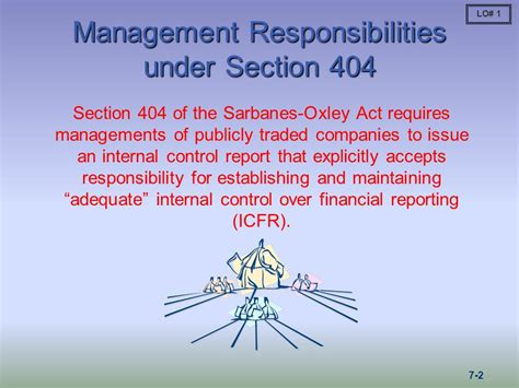 section 404 of the sarbanes oxley act states that 82 section 404 of the sarbanes oxley act sarbanes
