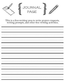 Prayer Request Printable Journal Page With Helper Lines For Young Writers Writing A Prayer Template