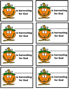 printable name tags for sunday school printable pumpkin quot harvesting for god quot name tags fall
