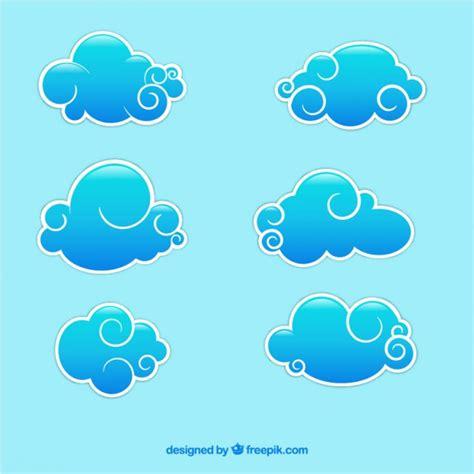 imagenes de nubes sin fondo nubes azules abstractas descargar vectores gratis