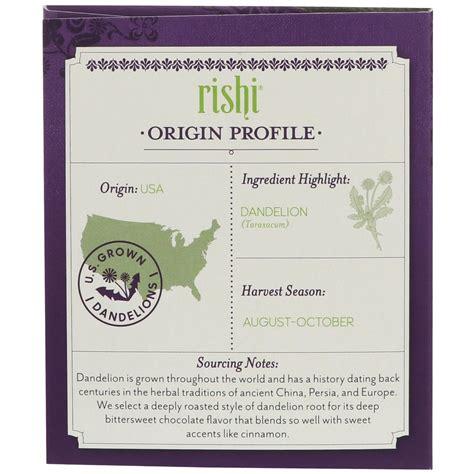 Rishi Detox Tea by Rishi Tea органический пу эр детокс из одуванчика 15